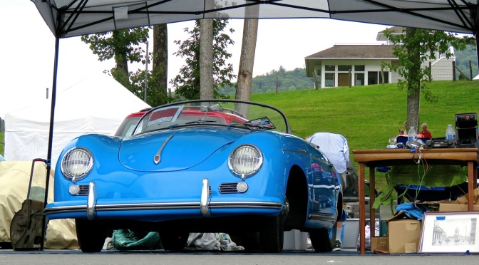Porsche 356 A 1600 'Super' Speedster in the paddock at Lime Rock