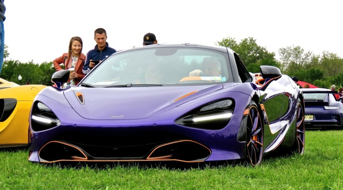 A wild purple McLaren 720S at Liberty State Park