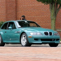 A very rare Evergreen BMW M Coupe at Radwood Philly