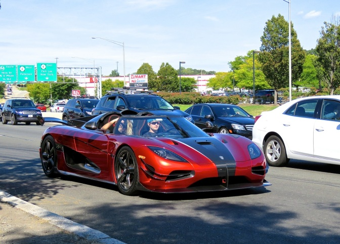 Koenigsegg Agera XS spotted in traffic in Paramus, NJ