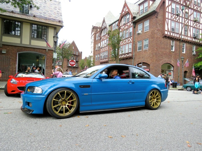 A cleanly modded BMW E46 M3 at he Scarsdale Concours