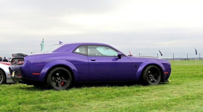 Dodge Demon in Plum Crazy in Liberty State Park