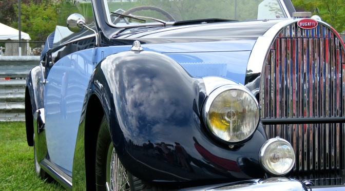 1937 Bugatti Type 57C in Two-Tone Blue at Lime Rock